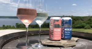 Bellangelo on Seneca Lake is trying out its rose and Moscato wines in cans.
