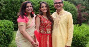 Chetna Chandrakala and family. (Provided photo)