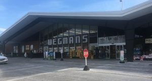 The Wegmans plaza on Fairport Road in East Rochester is one of four local plazas or malls that were named in lawsuits filed by a New York City-area man. (Diana Louise Carter)