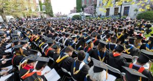 UR will hold this year's graduation online instead of on folding chairs on the quad. (Photo supplied by UR)