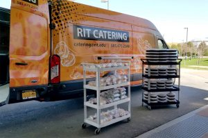 RIT's Catering started delivering regular meals to healthcare workers. (RIT photo by Autumn Greer)