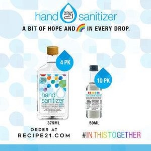 Orders for LiDestri Foods' hand sanitizer are now being accepted online at Recipe21.com and being shipped directly to consumers.